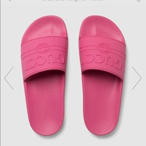 Authentic Gucci pink slides